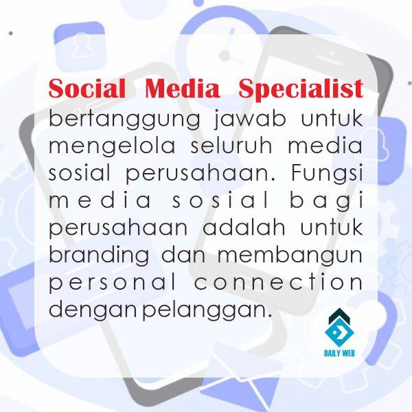 Sosial Media Specialist Gaji